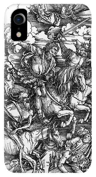 Albrecht Durer iPhone XR Case - The Four Horsemen Of The Apocalypse by Albrecht Durer