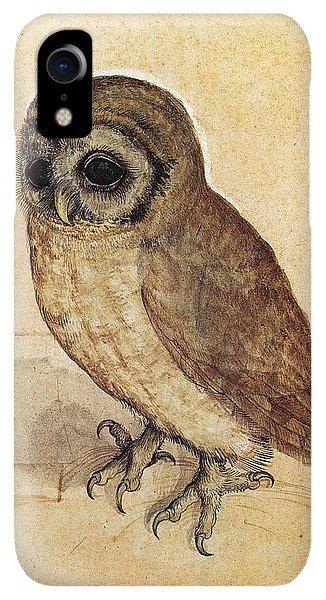 Albrecht Durer iPhone XR Case - The Little Owl 1508 by Philip Ralley