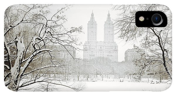 Winter iPhone XR Case - Through Winter Trees - Central Park - New York City by Vivienne Gucwa
