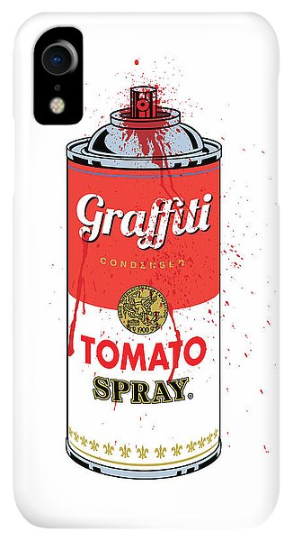 Print iPhone XR Case - Tomato Spray Can by Gary Grayson