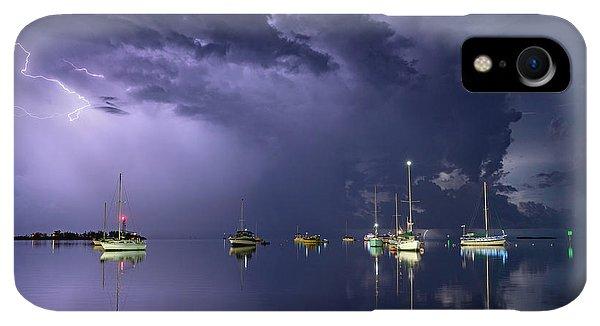 Violet iPhone XR Case - Tropical Storm1 by Alexandru Popovski