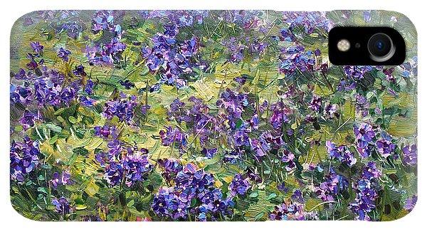 Violet iPhone XR Case - Wild Violets  by Ylli Haruni