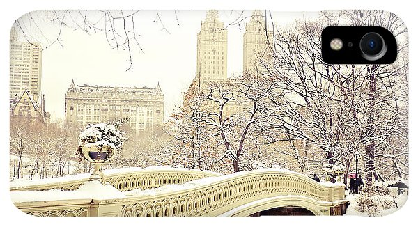 Winter iPhone XR Case - Winter - New York City - Central Park by Vivienne Gucwa