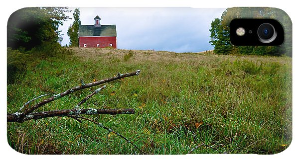 Etna iPhone XR Case - Old Red Barn On The Hill by Edward Fielding