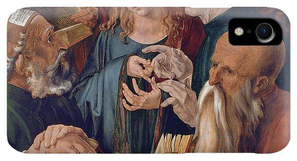 Albrecht Durer iPhone XR Case - Jesus Among The Doctors by Albrecht Durer