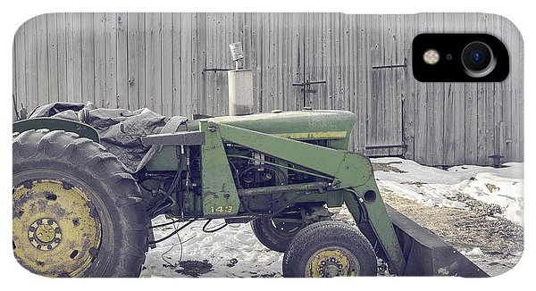 Etna iPhone XR Case - Old Tractor By The Grey Barn by Edward Fielding