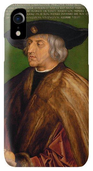 Albrecht Durer iPhone XR Case - Portrait Of Maximilian I by Albrecht Durer
