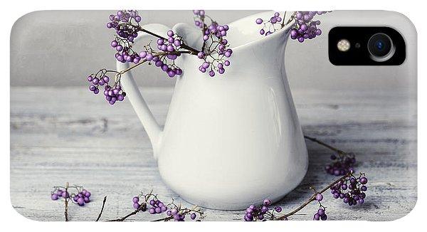 Violet iPhone XR Case - Purple Berries by Nailia Schwarz