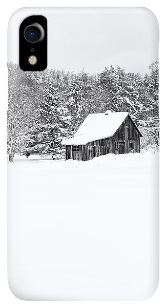 Etna iPhone XR Case - Remote Cabin In Winter by Edward Fielding