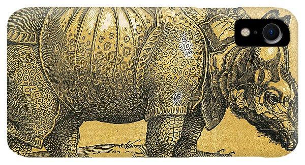 Albrecht Durer iPhone XR Case - Rhinoceros by Albrecht Durer