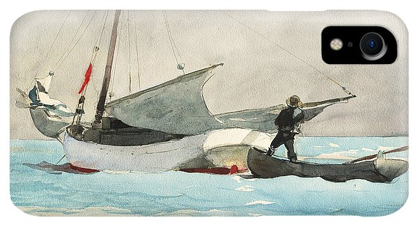20th iPhone XR Case - Stowing Sail by Winslow Homer