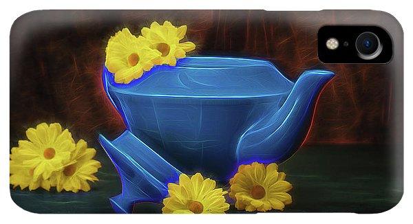 Kettles iPhone XR Case - Tea Kettle With Daisies Still Life by Tom Mc Nemar