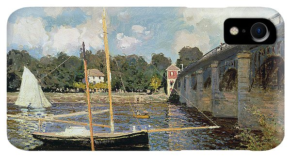 Boats iPhone XR Case - The Seine At Argenteuil by Claude Monet