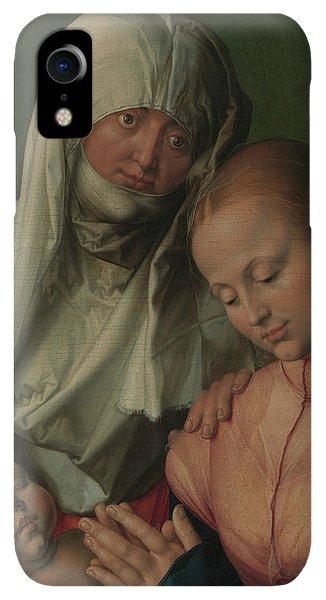 Albrecht Durer iPhone XR Case - Virgin And Child With Saint Anne by Albrecht Durer