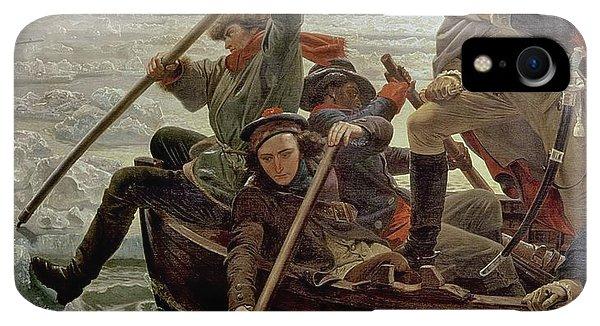 Boats iPhone XR Case - Washington Crossing The Delaware River by Emanuel Gottlieb Leutze