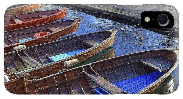 Boats iPhone XR Case - Wooden Boats by Joana Kruse