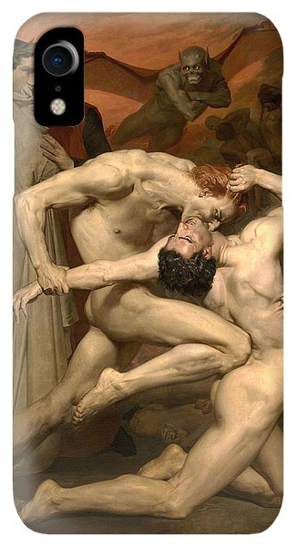 20th iPhone XR Case - Dante And Virgil In Hell  by William-Adolphe Bouguereau