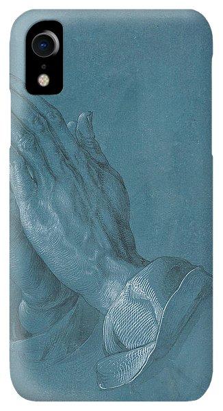 Albrecht Durer iPhone XR Case - Praying Hands by Albrecht Durer