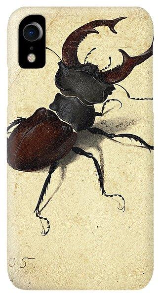 Albrecht Durer iPhone XR Case - Stag Beetle by Albrecht Durer