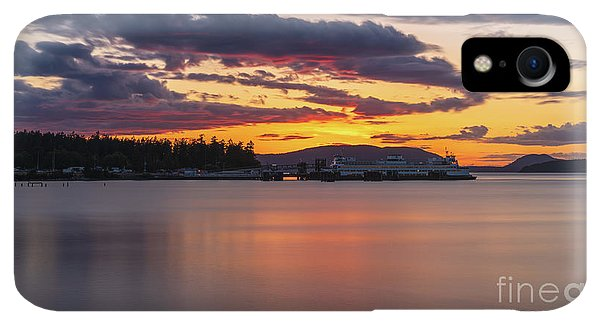 Whidbey iPhone XR Case - Anacortes Ferry Dock Sunset Gateway To The San Juan Islands by Mike Reid