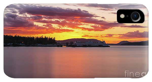 Whidbey iPhone XR Case - Anacortes Ferry Dock Sunset Smooth Reflections by Mike Reid