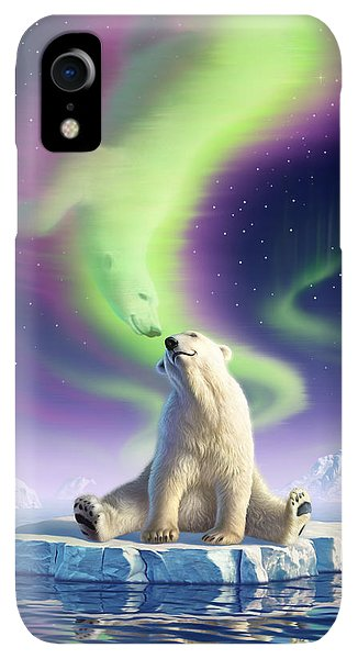 Flow iPhone XR Case - Arctic Kiss by Jerry LoFaro