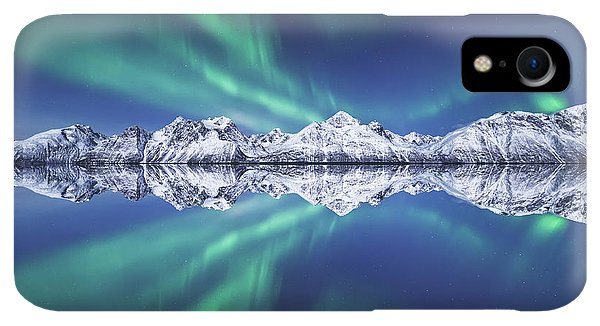 Winter iPhone XR Case - Aurora Square by Tor-Ivar Naess