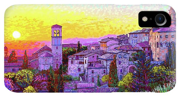 Violet iPhone XR Case - Basilica Of St. Francis Of Assisi by Jane Small