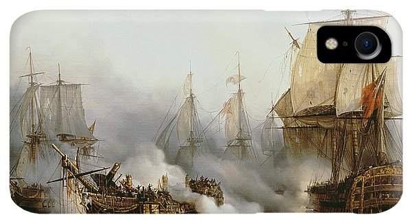 Boats iPhone XR Case - Battle Of Trafalgar by Louis Philippe Crepin