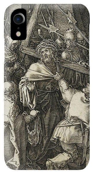 Albrecht Durer iPhone XR Case - Bearing Of The Cross by Albrecht Durer