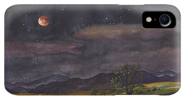 Rocky Mountain iPhone XR Case - Blood Moon Over Boulder by Anne Gifford