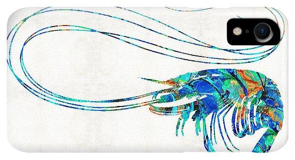 Scuba Diving iPhone XR Case - Blue Shrimp Art By Sharon Cummings by Sharon Cummings