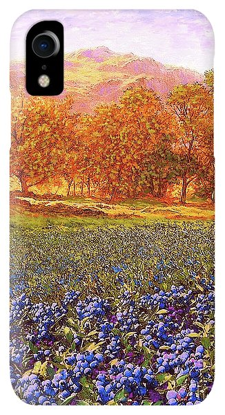 Violet iPhone XR Case - Blueberry Fields by Jane Small