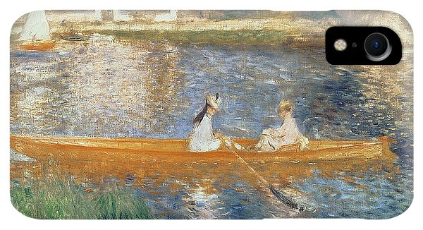 Boats iPhone XR Case - Boating On The Seine by Pierre Auguste Renoir