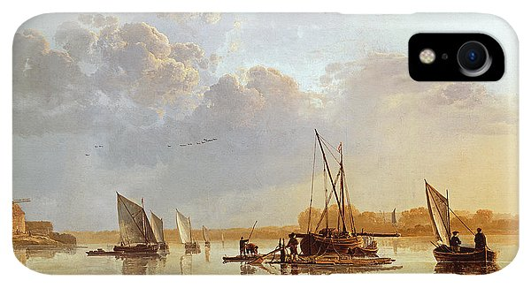 Boats iPhone XR Case - Boats On A River by Aelbert Cuyp