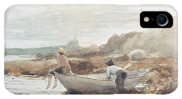 Boats iPhone XR Case - Boys On The Beach by Winslow Homer