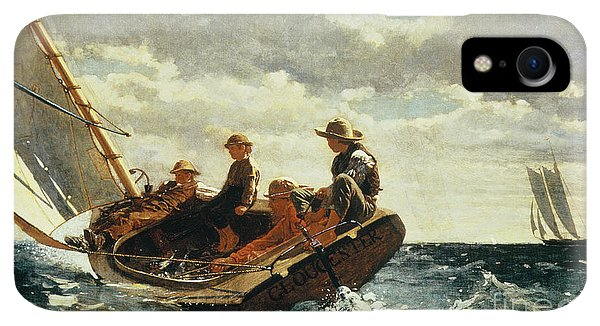 Boats iPhone XR Case - Breezing Up by Winslow Homer