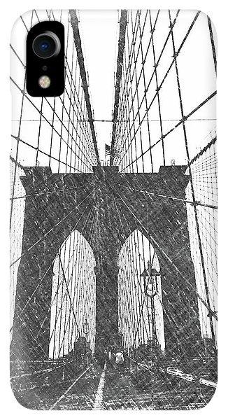 Dick Goodman iPhone XR Case - Brooklyn Bridge by Dick Goodman