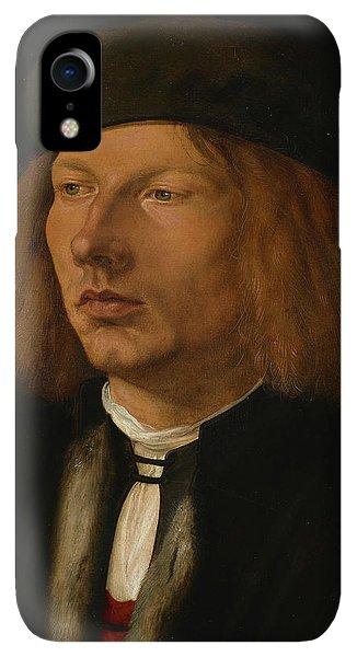 Albrecht Durer iPhone XR Case - Burkhard Of Speyer by Albrecht Durer