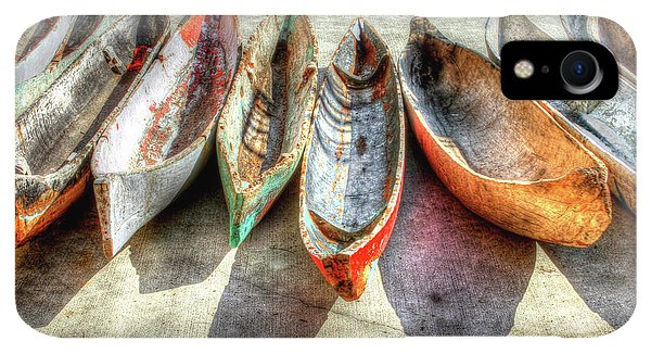 Boats iPhone XR Case - Canoes by Debra and Dave Vanderlaan