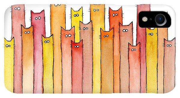 Print iPhone XR Case - Cats Autumn Colors by Olga Shvartsur