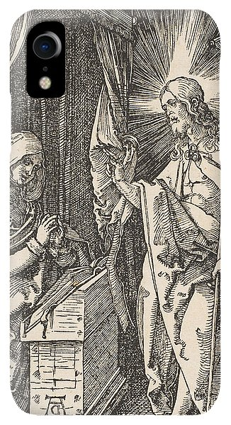 Albrecht Durer iPhone XR Case - Christ Appearing To His Mother, From The Small Passion by Albrecht Durer