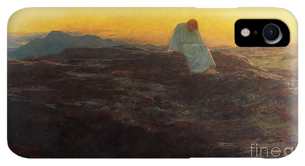 Rocky Mountain iPhone XR Case - Christ In The Wilderness by Briton Riviere