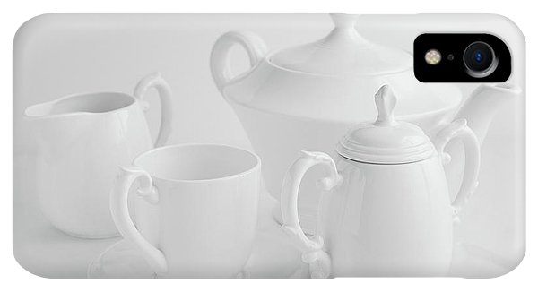 Kettles iPhone XR Case - Coffee In White by Tom Mc Nemar