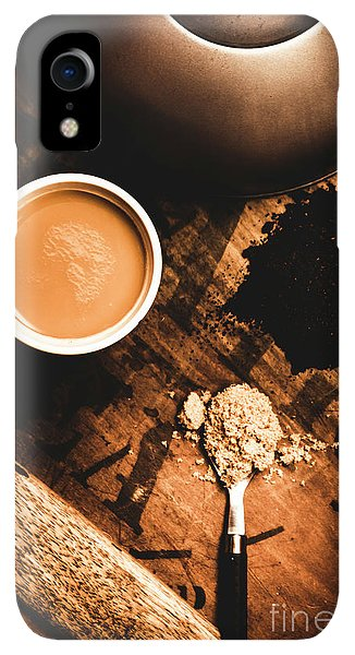 Kettles iPhone XR Case - Cup Of Tea With Ingredients And Kettle On Wooden Table by Jorgo Photography - Wall Art Gallery
