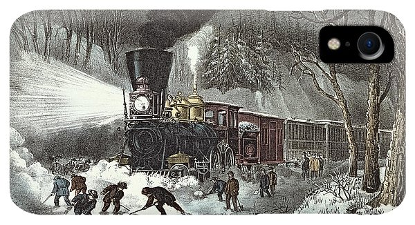 20th iPhone XR Case - Currier And Ives by American Railroad Scene