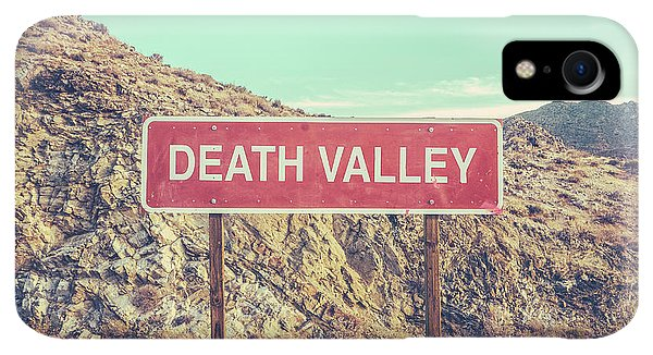 Scenic iPhone XR Case - Death Valley Sign by Mr Doomits
