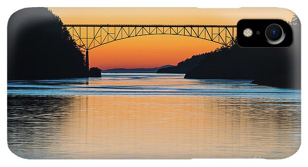 Whidbey iPhone XR Case - Deception Pass Bridge Evening Tranquility by Mike Reid