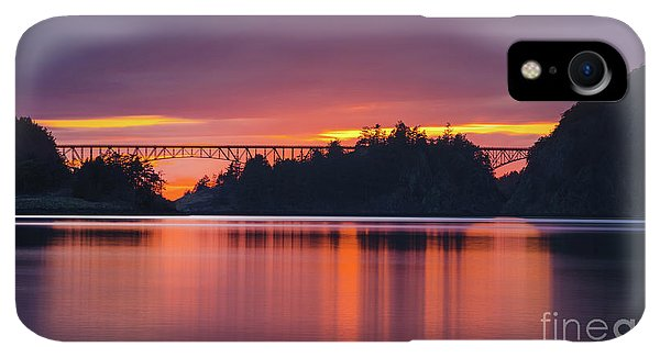Whidbey iPhone XR Case - Deception Pass Bridge Sunset Serenity by Mike Reid