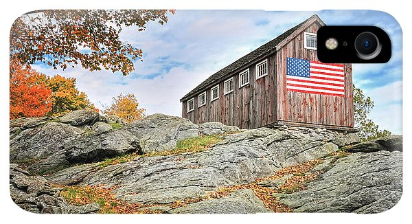 Roxbury iPhone XR Case - Display Of Colors - Roxbury Barn  by T-S Fine Art Landscape Photography